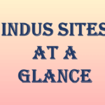Indus Sites at a glance