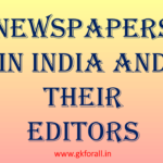 Newspapers in India and their editors