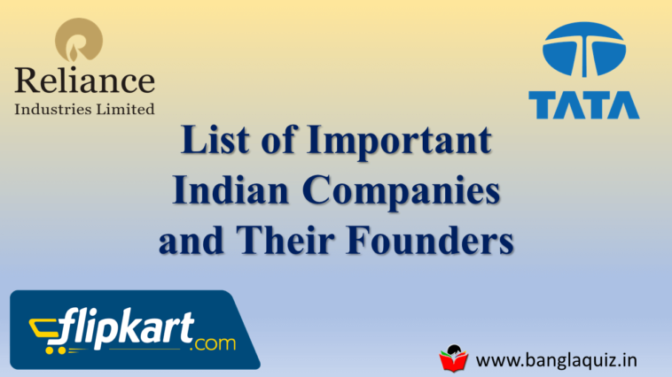 List of Important Indian Companies and Their Founders